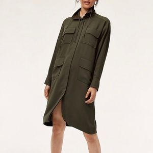 Babaton Trench Coat/Shirt Dress Size M Like New